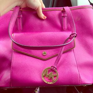Pink tote used
